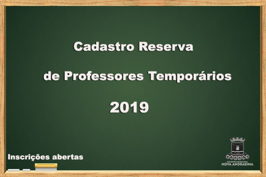Center cadastro professores 2019