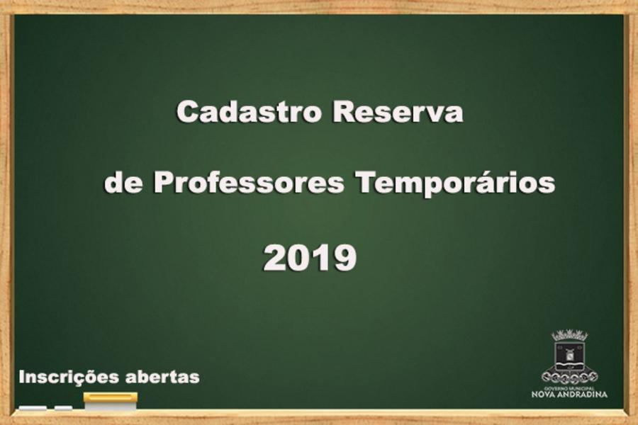 Center cadastro professores 2019